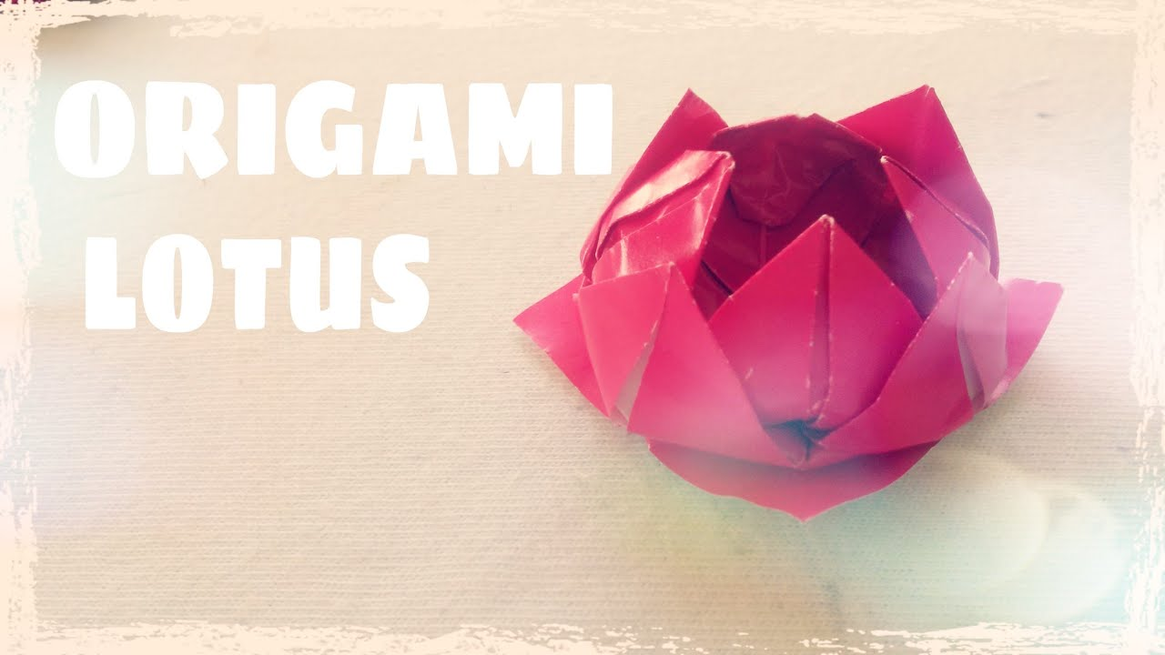 Origami Lotus Flower Instructions Origami Easy Youtube