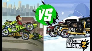 Hill Climb Racing 2 SUPER DIESEL vs FORMULA CAR - Fury Road