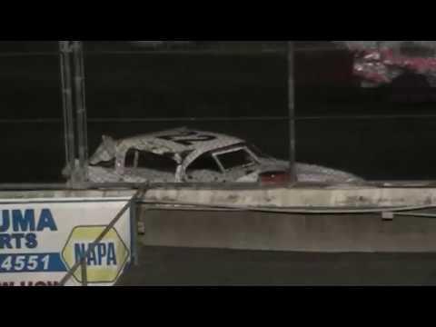 Super Stock Crash @ Petaluma Speedway 10/8/16
