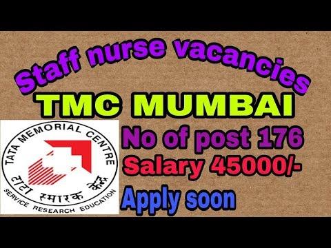 Latest staff nurse vacancy in TMC MUMBAI || TMC Mumbai staff nurse vacancy 2018
