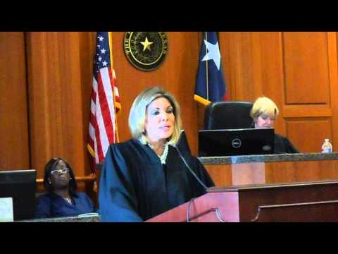 Texas Supreme Court Justice Eva Guzman - oath of office to Debra Ibarra Mayfield