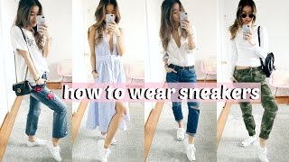 HOW I STYLE: WHITE SNEAKERS | rachspeed