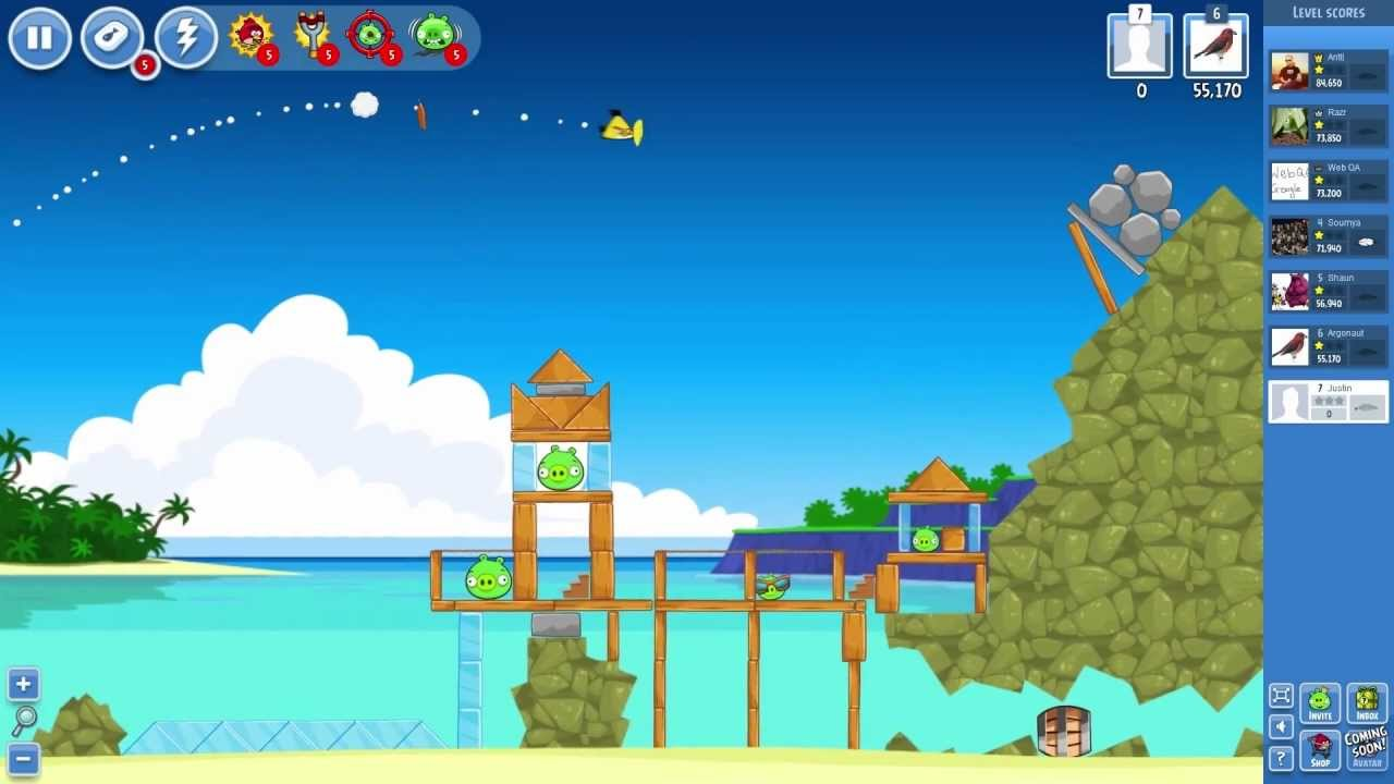 Angry Birds Facebook Gameplay - YouTube