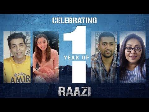 Celebrating one year of Raazi   Alia Bhatt   Vicky Kaushal   Meghna Gulzar   Karan Johar