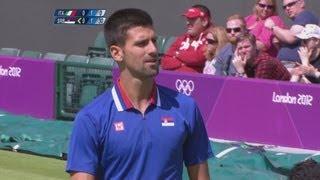 Fognini (ITA) v Djokovic (SRB) Men's Tennis 1st Round Replay - London 2012 Olympics