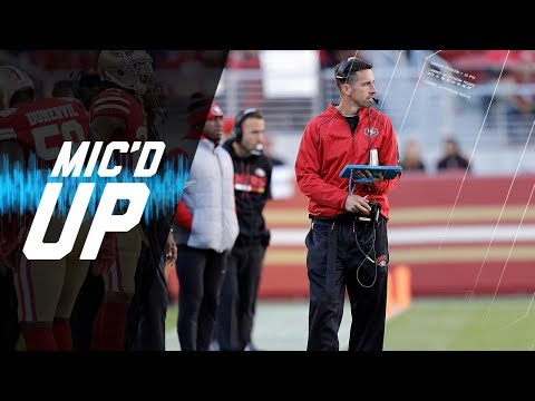 """Kyle Shanahan Mic'd Up vs. Cardinals """"He Slipped on the Logo!""""   NFL Sound FX"""