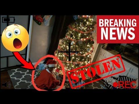 SANTA GOT ROBBED!! CAUGHT SANTA ON CAMERA BRINGING CHRISTMAS PRESENTS EARLY!! PRESENTS GOT STOLEN!!