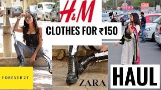 SUMMER HAUL 2018 | H&M (CLOTHES FOR ₹150) | FBB | F21 | UPAASANA LAMBA