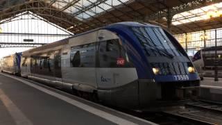 Train of SNCF arrived in Tours station トゥール駅に到着したフランス...