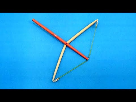 How to Make a Paper Bow That Shoots Paper Arrow | Paper Toy Weapons for Kids