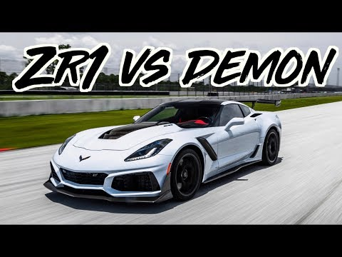 2019 Corvette ZR1 vs Dodge Demon - 1600HP GTR - TrackHawk - McLaren 720s