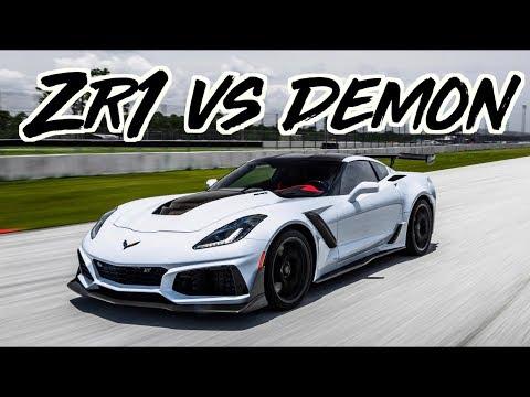 2019 Corvette ZR1 vs Dodge Demon – 1600HP GTR – TrackHawk – McLaren 720s