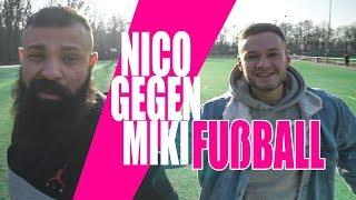Nico gegen Miki beim Fußball