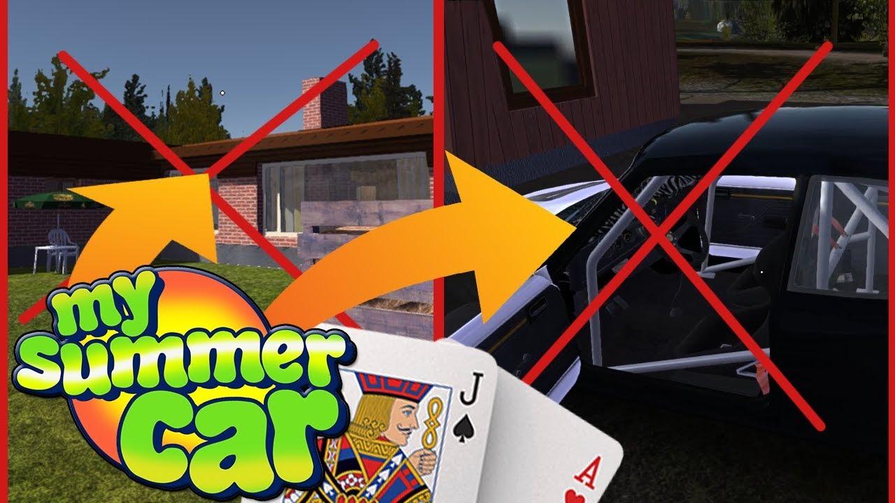 POSTAWIŁEM DOM I SAMOCHÓD W KARTY – My Summer Car #76