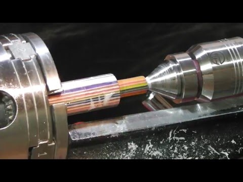 Hand turned custom drip tip