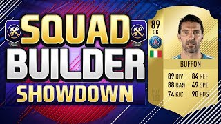 FIFA 18 SQUAD BUILDER SHOWDOWN!!! TRANSFERRED PSG BUFFON!!!