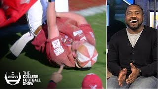 Great catches, runaway wagons lead college football Week 11's 'Holy Cow' | The College Football Show