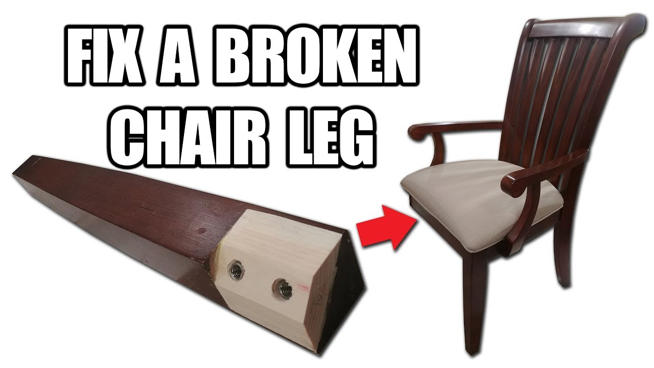 Fixing Wooden Chairs Folding Table And For Camping How To Fix A Broken Chair Leg Youtube Diybuilds Woodworking Diy