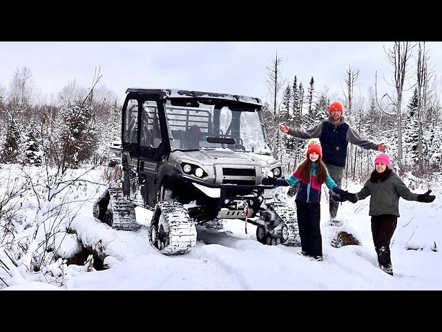 Escaping to the Wilderness Winter EXPLORING at the OFF-GRID Property & Cooking on a Rocket Stove