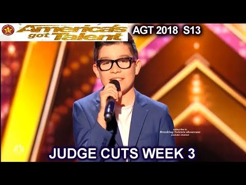 """Angel Garcia sings """"Just The Way  You Are"""" Spanish  America's Got Talent 2018 Judge Cuts 3 AGT"""