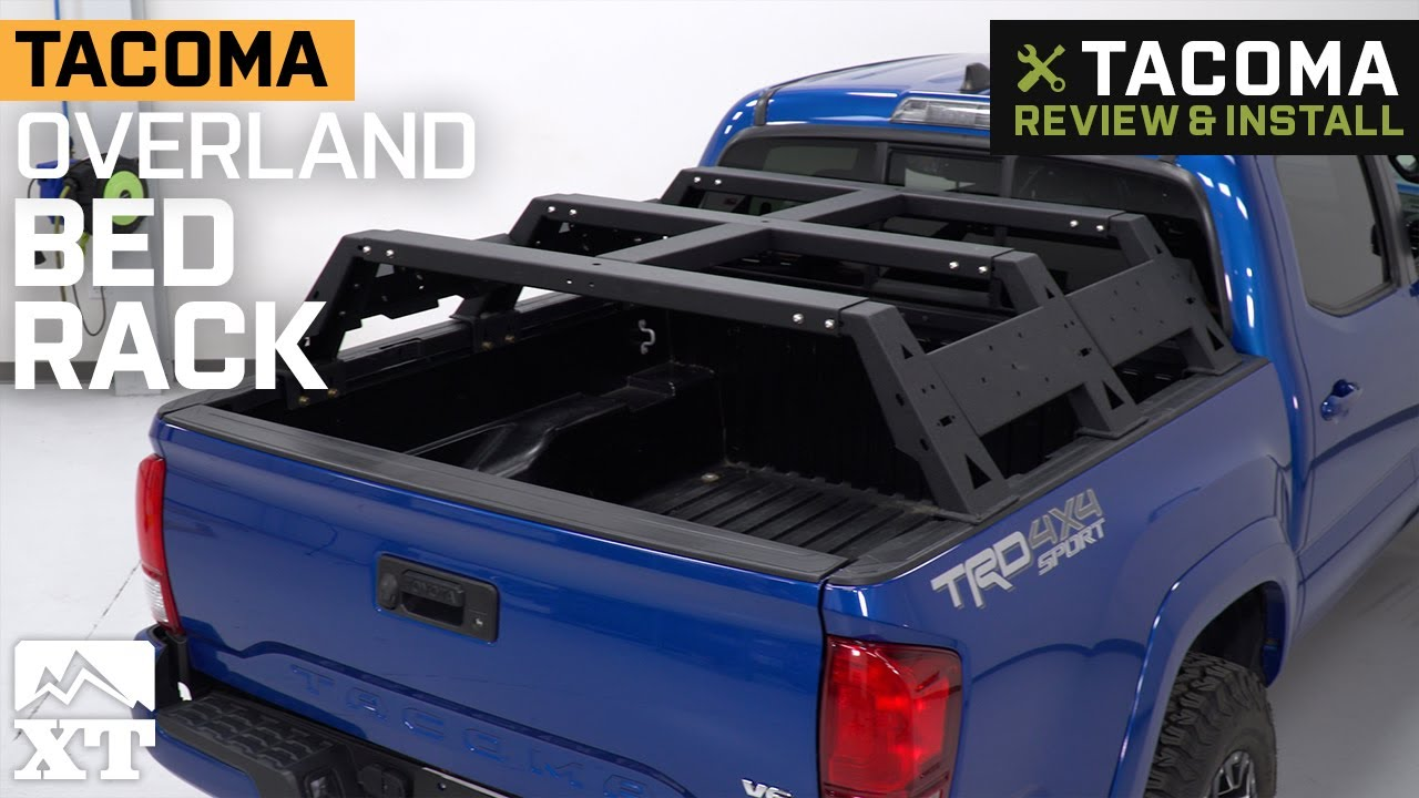 overland bed rack 05 21 tacoma double cab