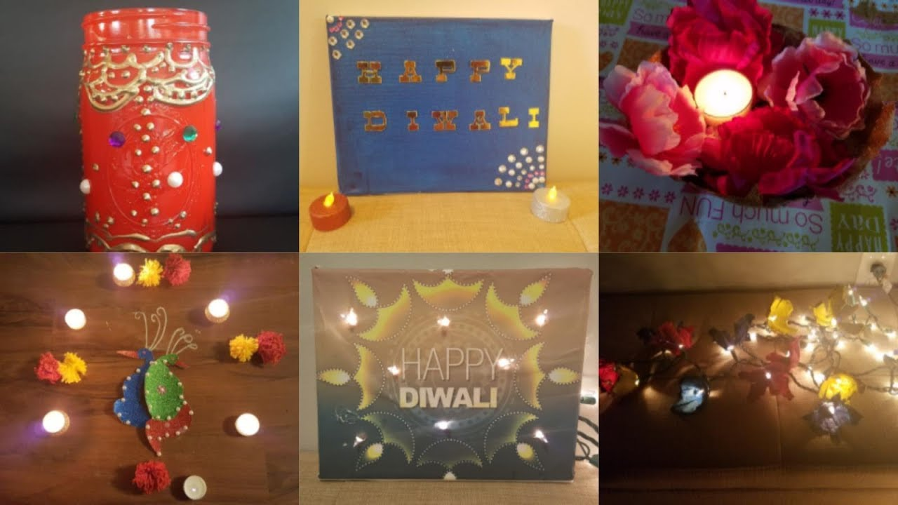 Diy diwali decoration ideas diwali home decor indian for Ideas for home decoration on diwali