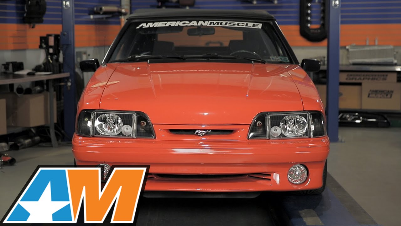1987 1993 Mustang Black Headlights Foxbody Review Install Youtube