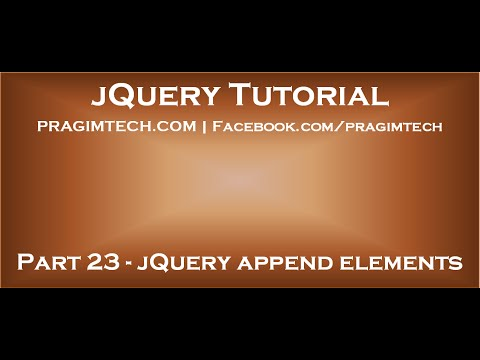 jQuery append elements