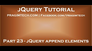 jQuery Append Elements