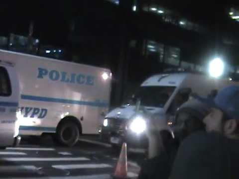 Occupy Wall Street, Liberty Square, Nov. 15, 2011, @ 1 AM,  Police Raid