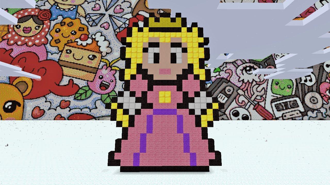 Minecraft Pixel Art How To Make Princess Peach