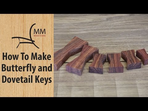 How to Make Butterfly / Dovetail Keys
