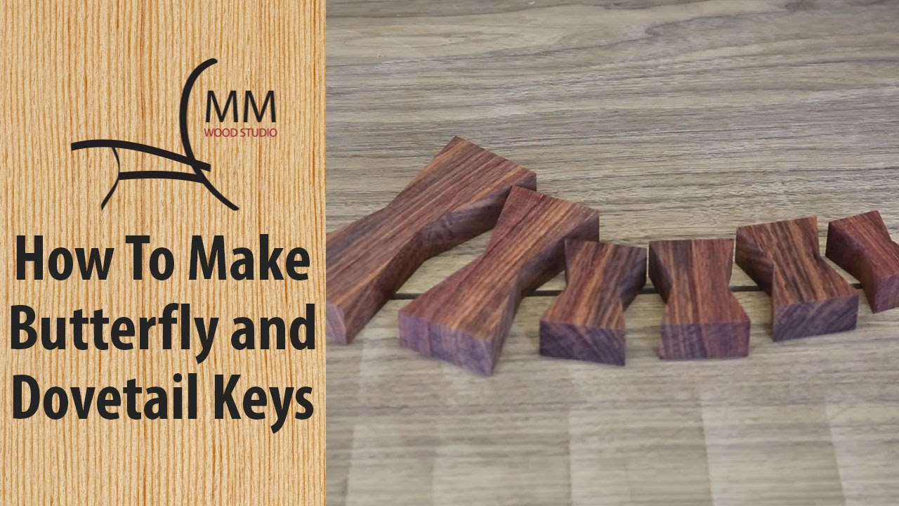 How to Make Butterfly / Dovetail Keys - YouTube