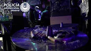 Desalojada una fiesta ilegal de 36 personas en un local del centro de Madrid