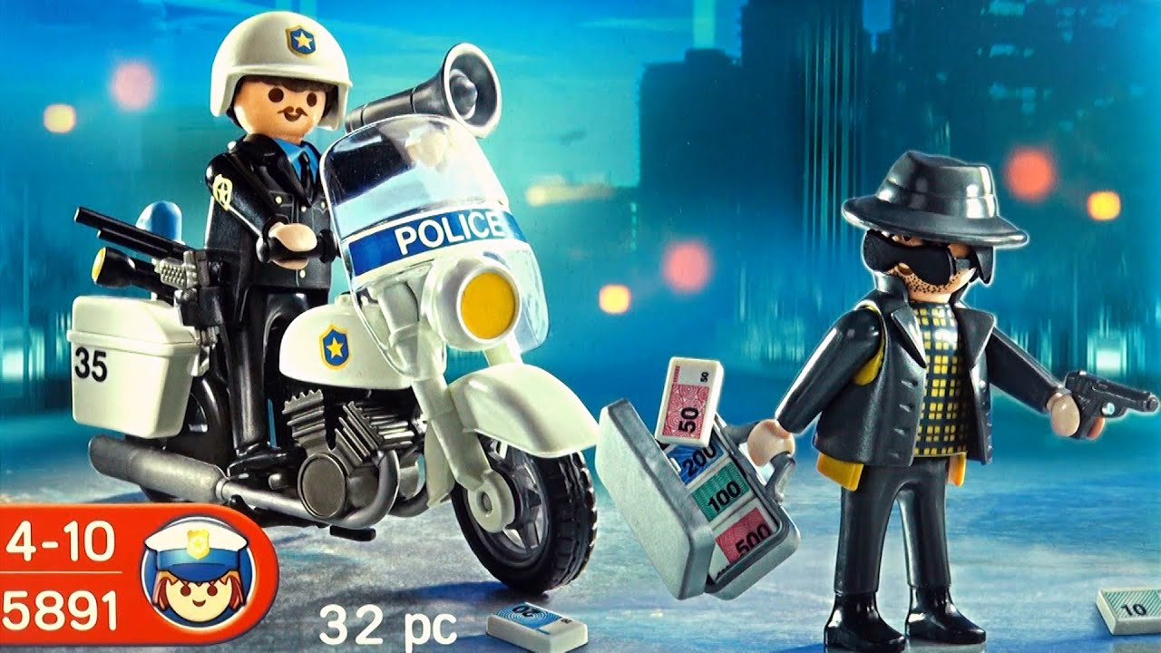 playmobil police polizei 5891 unboxing city action policeman and thief toy youtube