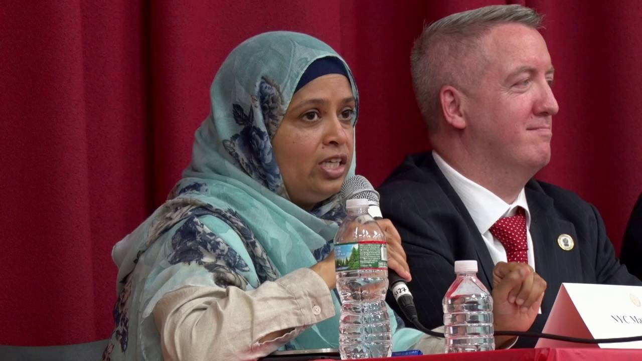 NYPD AND CITY OFFICIALS MEET WITH BRONX MUSLIM COMMUNITY