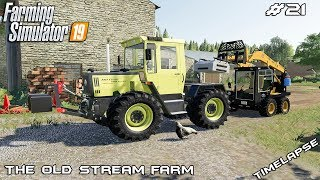 New tractor and equipment | Animals on The Old Stream Farm | Farming Simulator 19 | Episode 21