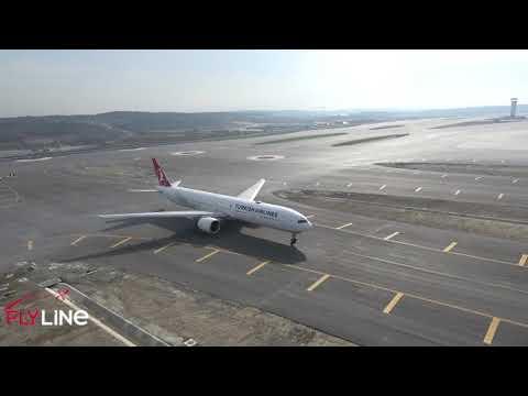 Istanbul Yeni Havalimanı Türk Hava Yolları Ilk Uçuş, Taksi, Pist Başı