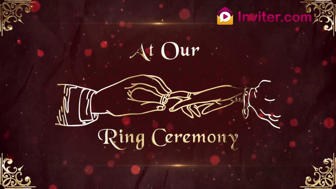 Animated Engagement Invitation Video For Whatsapp Ring Ceremony Invitation Video Inviter Com