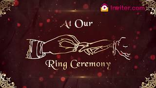 animated engagement invitation video for whatsapp ring ceremony invitation video inviter com