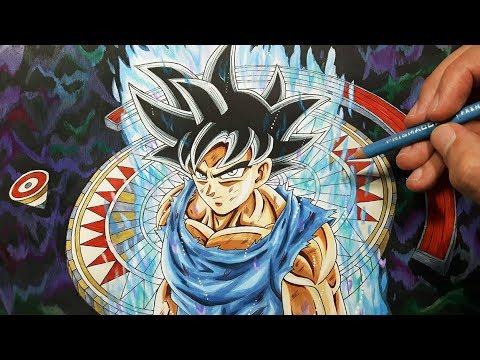 Drawing goku 39 s new form ultra instinct dragon ball super special youtube - Goku ultra instinct sketch ...