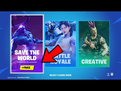 How To Get Save The World For Free! (XBOX, PS4, PC) *Chapter 2 Season 3*