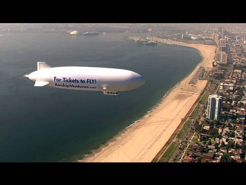 Zeppelin Eureka Over Long Beach
