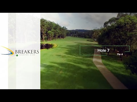 Breakers Country Club | Hole 7 | Fairway Flyovers Australia