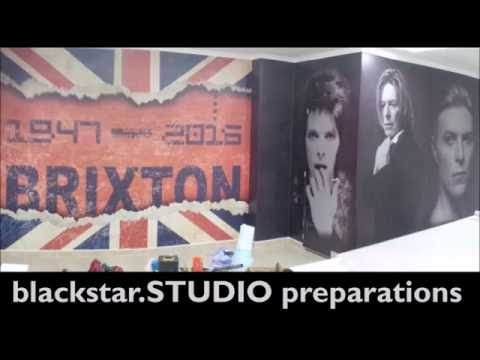 Steve Stachini blackstarSTUDIO Wall Wrap (part 1) David Bowie
