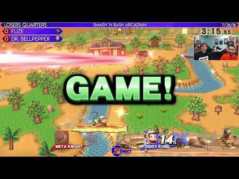Smash 'N Bash Arcadian LQ: FuZe (Meta Knight) vs Dr. Bellpepper (Diddy Kong)