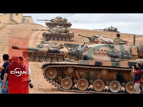 Türk tankları Suriye sınırına konuşlandı