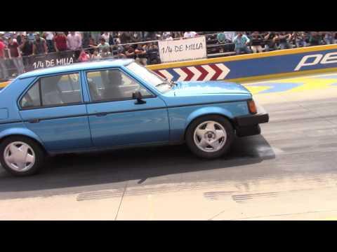 Honda Civic Sir Custom Shop Vs Plymouth Horizon Lara racing arrancones Pegaso 1/4 de milla