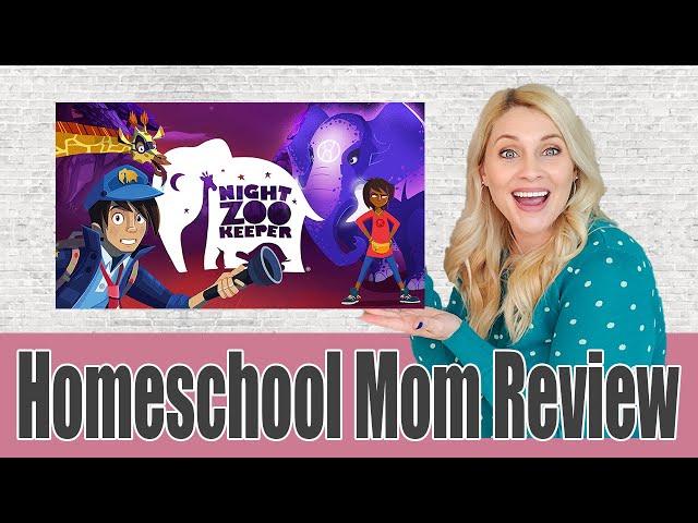HOMESCHOOL MOM REVIEW NIGHT ZOOKEEPER | Game School Creative Writing | Homeschool Made Fun