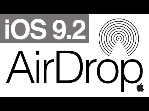 IOS 9.2 How To AirDrop In IPhone IPad IPod Touch IOS Tutorial